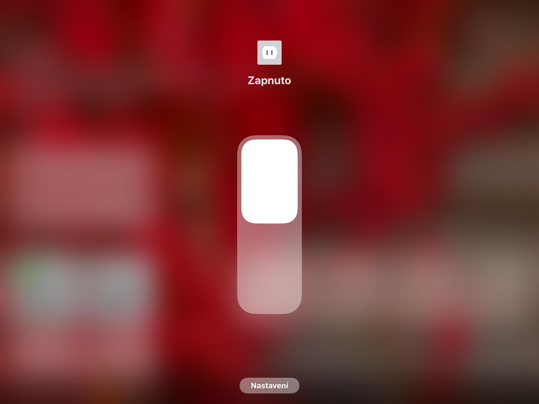 Obrazovka aplikace Domácnost se zapnutím a vypnutím Elgato Eve Energy