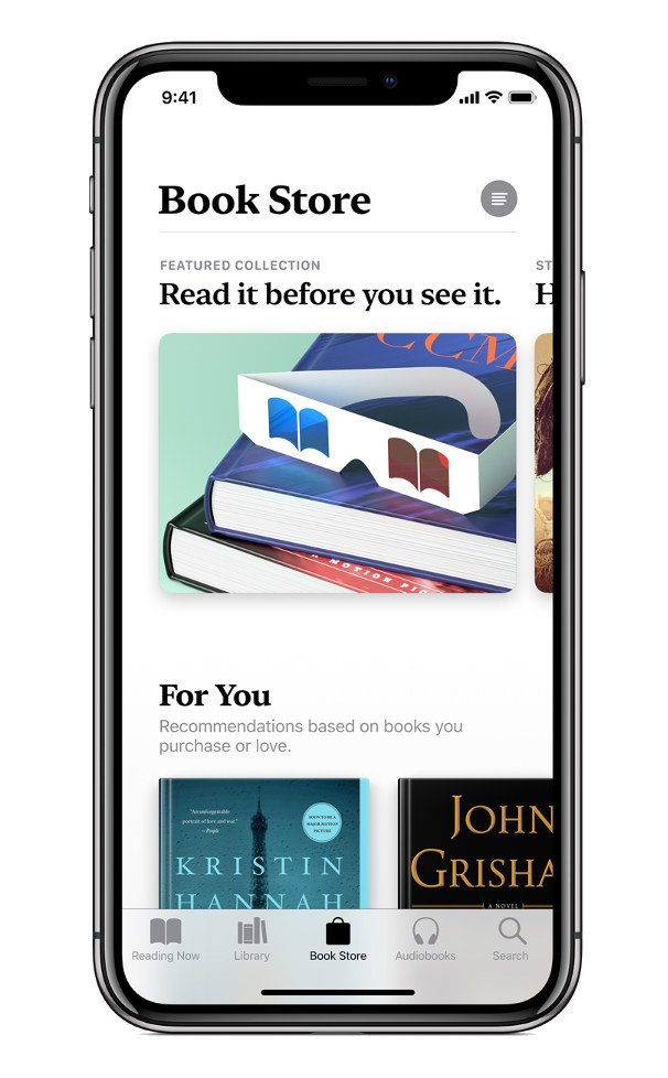 Obchod v Apple Books v iOS 12