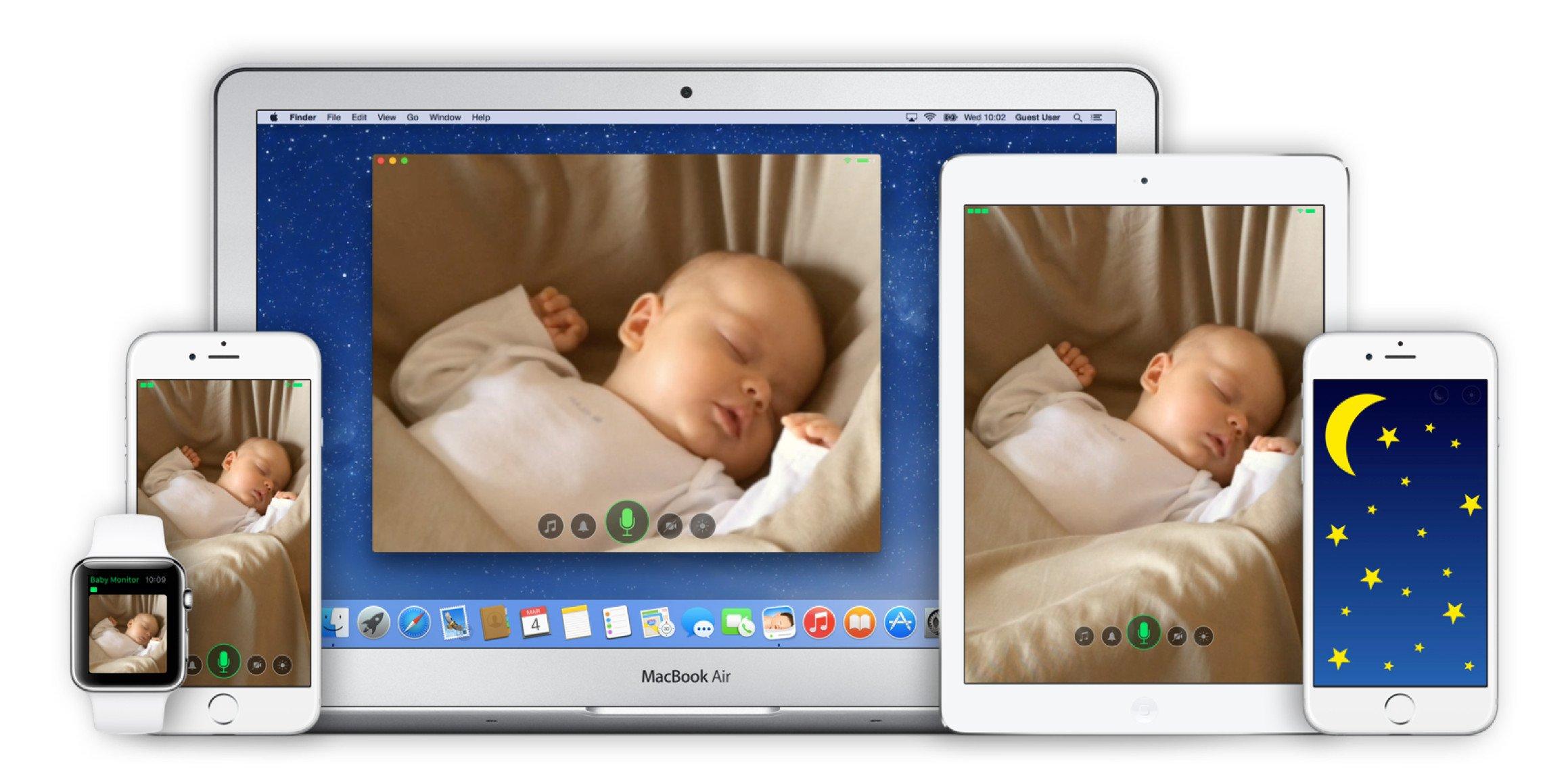 Podporovaná zařízení aplikací Cloud Baby Monitor
