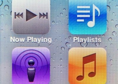 Domovská obrazovka na iPod Nano 6G