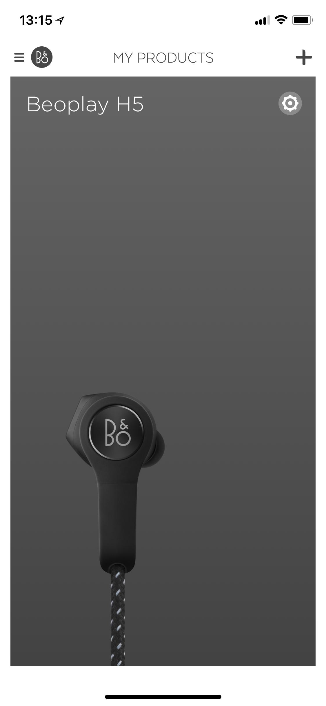 Hlavní obrazovka aplikace aplikace Beopla