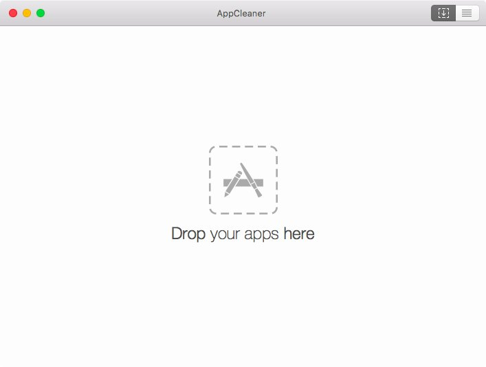 Hlavní okno aplikace AppCleaner