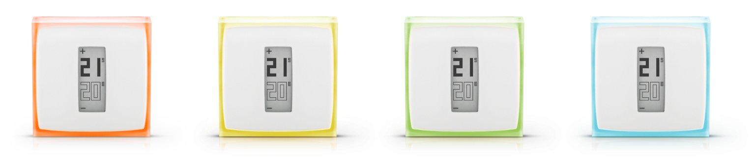 Dostupné varianty podbarvení termostatu Netatmo Energy
