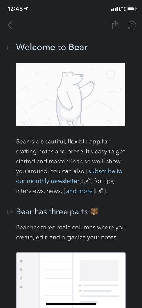 Barevné téma Bearu Dark Graphite