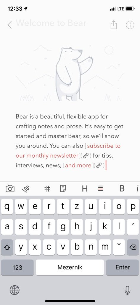 Bear pro iPhone