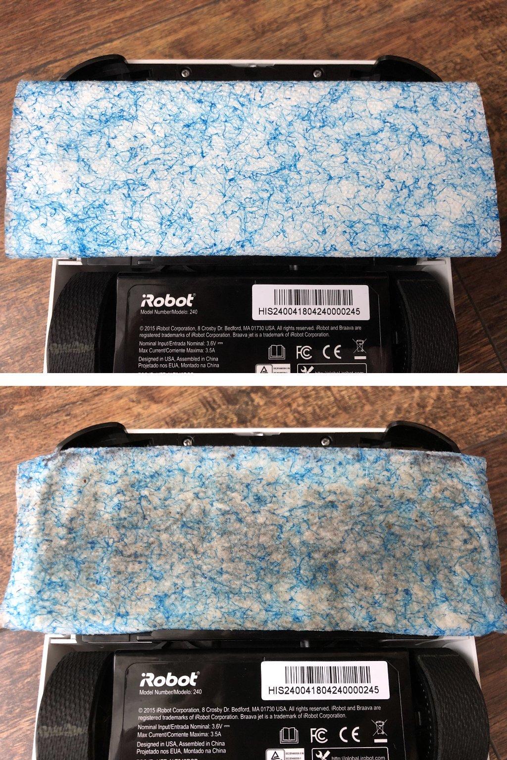 Jednorázová utěrka na mokrý úklid před použitím a po něm