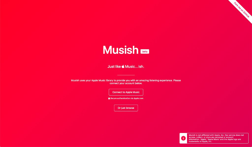 Úvodní obrazovka přehrávače Musish
