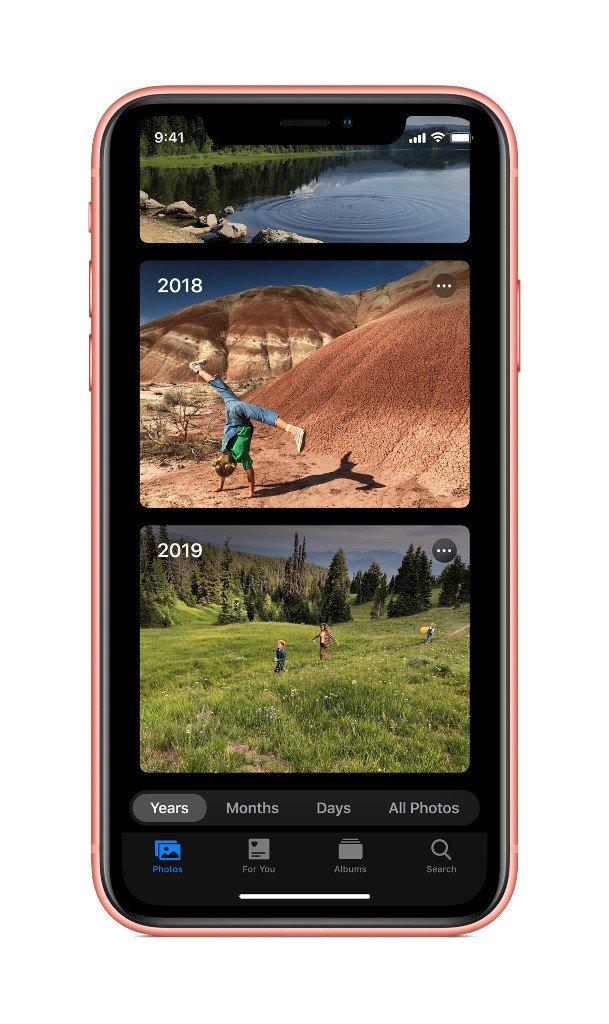 Aplikace Fotky v iOS 13