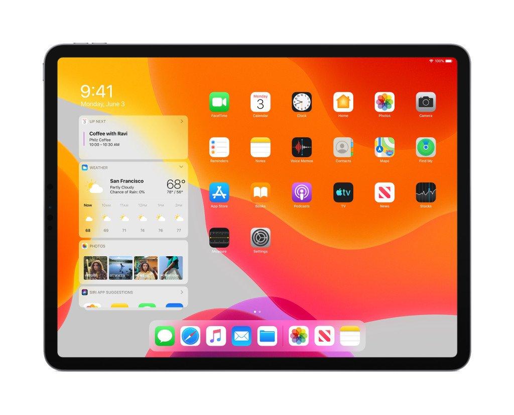 Nová domovská obrazovka iPadOS