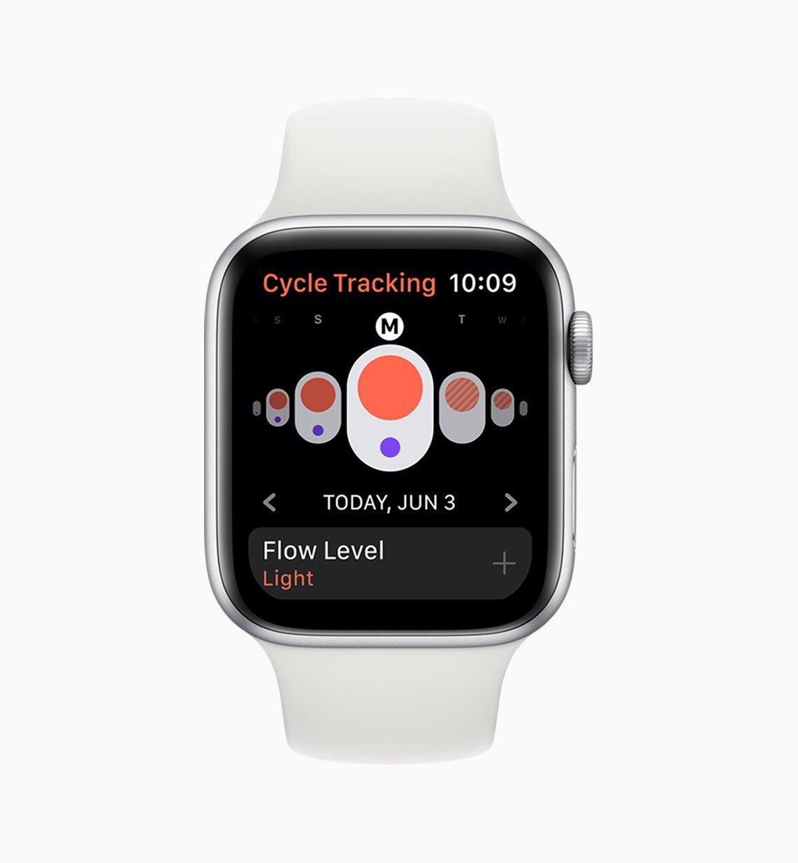 Sledování menstruačního cyklu na Apple Watch