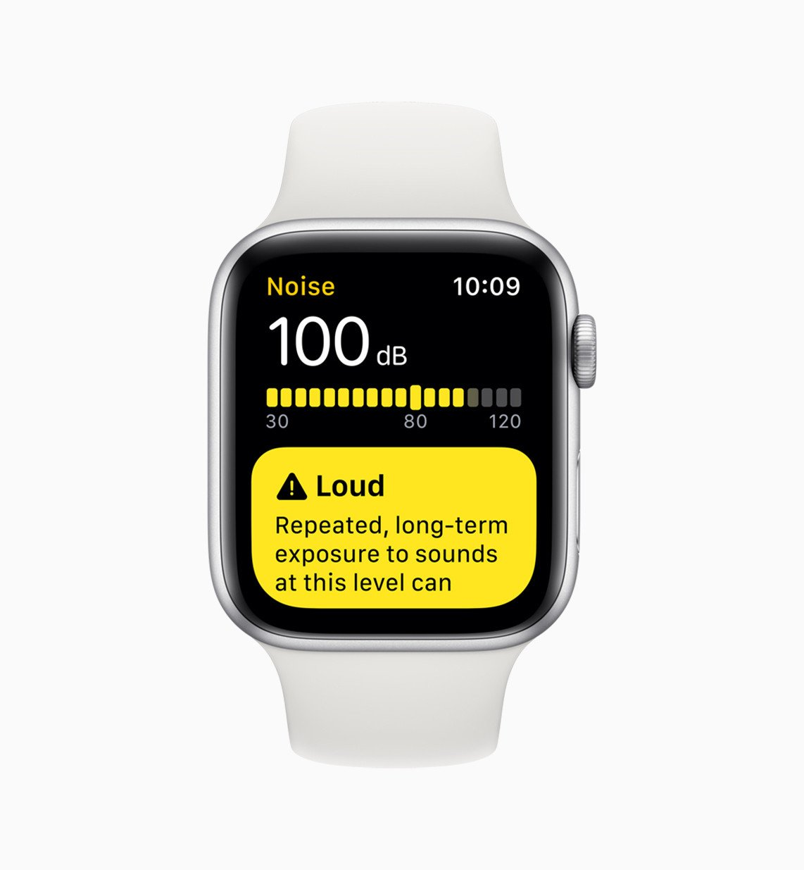 Detekce hluku na Apple Watch