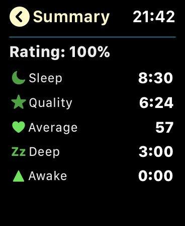 Aplikace AutoSleep na Apple Watch
