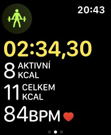 Aktivní cvičení na Apple Watch