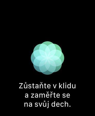 Aplikace Dýchání v Apple Watch