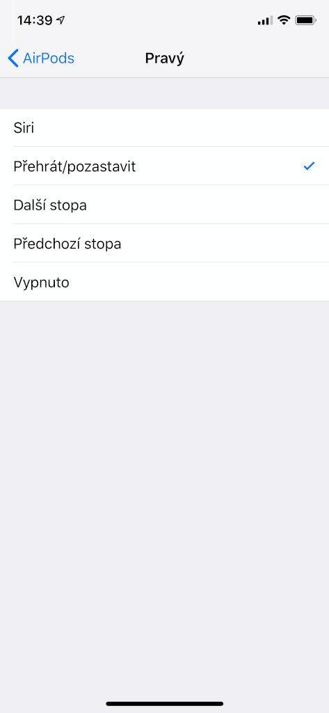 Nastavení AidPods 2. generace na iPhone