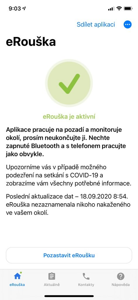 Aktivace aplikace eRouška 2