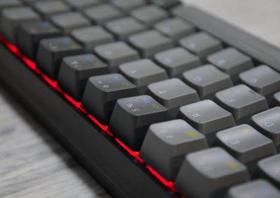 Detail podsvícení klávesnice Keychron K6