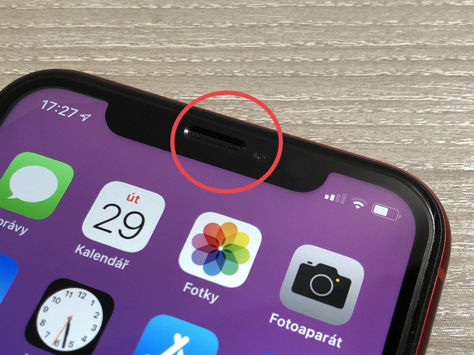 Přední fotoaparát a mikrofon iPhone Xr